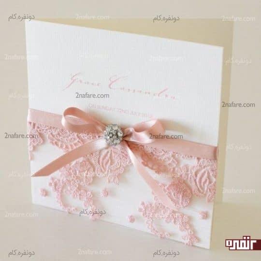 کارت عروسی با تور گلدار