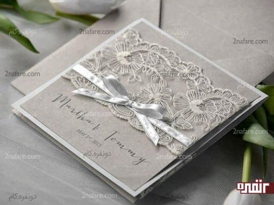 کارت عروسی خاکستری