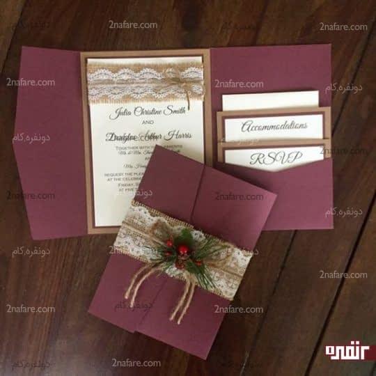 کارت عروسی طرح برجسته