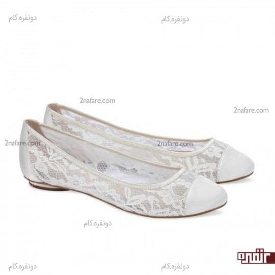 کفش تخت و بدون پاشنه و راحت برای عروس
