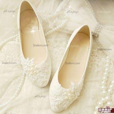 کفش سفید و زیبای عروس