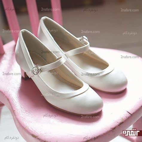 کفش عروس با پاشنه کوتاه