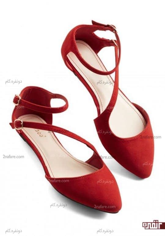 کفش عروس تخت و راحت و خوش رنگ