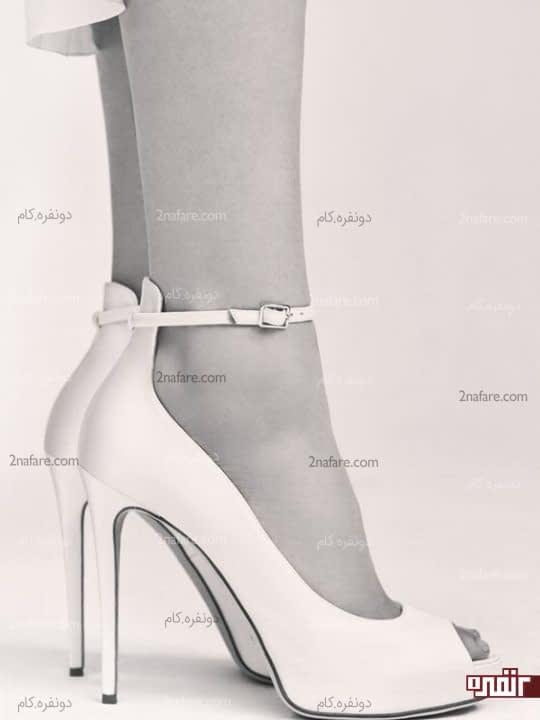 کفش عروس پاشنه بلند ساده و شیک