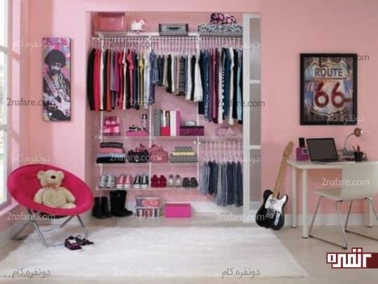 کمد لباس در دکوراسیون اتاق خواب دخترانه