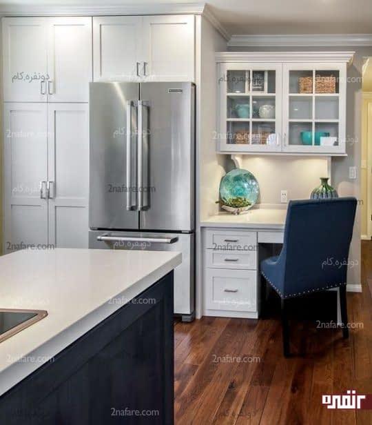 کنج آشپزخانه برای میز کار و قفسه ها