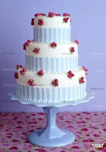 کیک زیبای عروسی با تزیین فوندانت