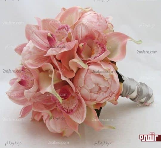 گل صدتومنی به همراه شیپوری و ارکیده