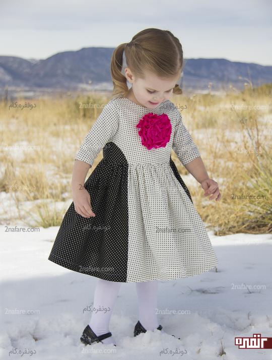 گل پارچه ای برای تزیین لباس دختربچه ها