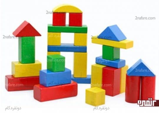 آجرهای خونه سازی اسباب بازی مناسب برای کودک