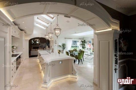 آشپزخانه ای روشن و دارای نور کافی