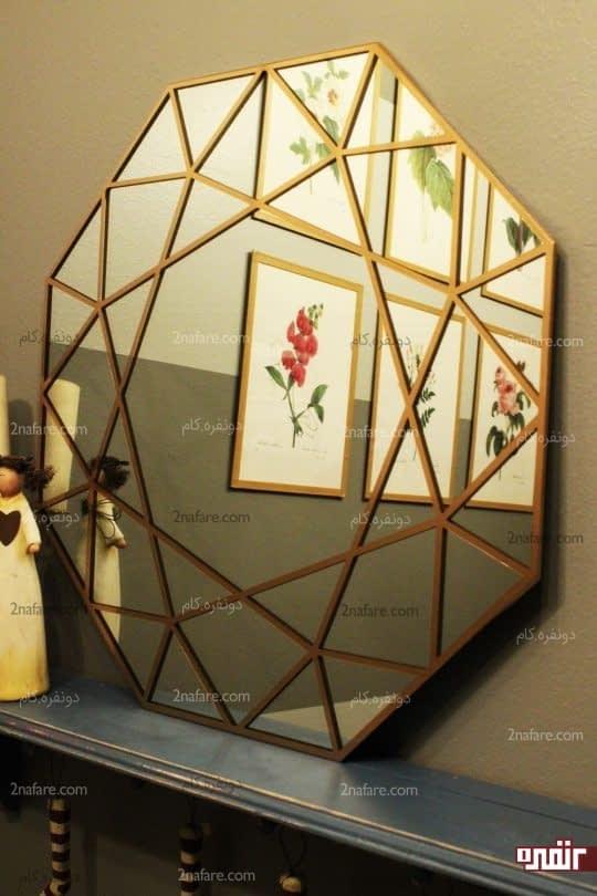 آموزش رنگ آمیزی و تزئین آینه با شکل های هندسی