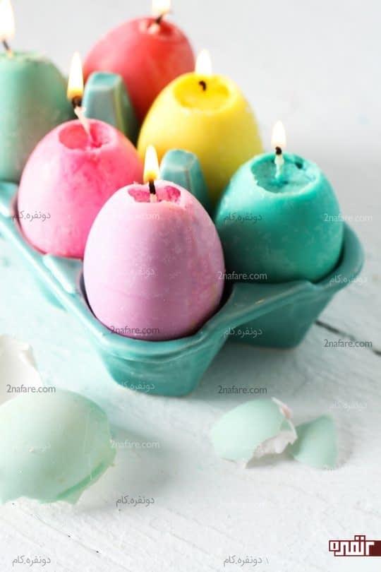 آموزش ساخت شمع تخم مرغی