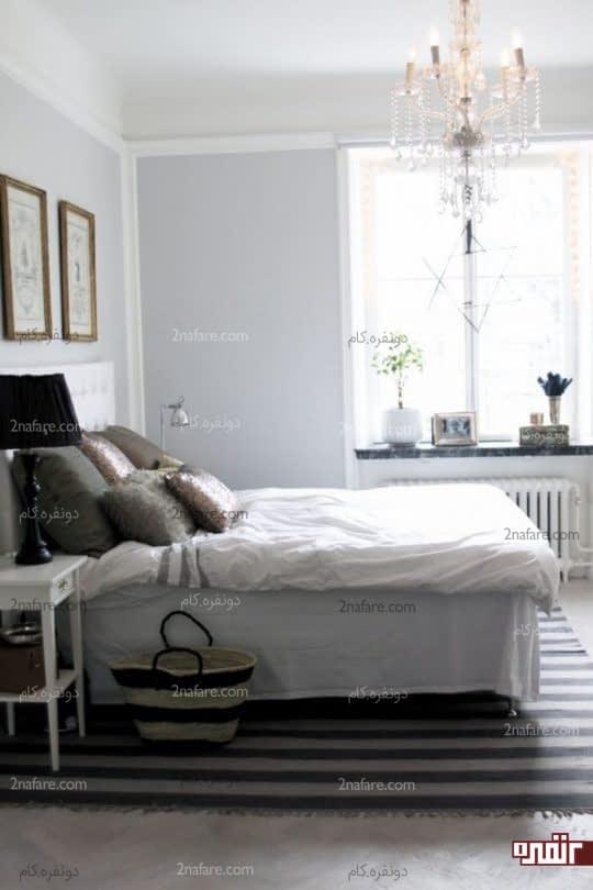 استفاده از فرش خاکستری در اتاق خواب
