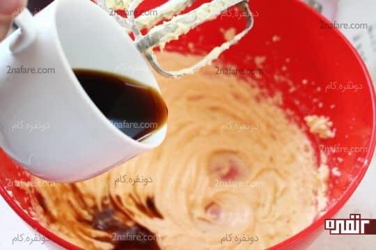 اضافه کردن قهوه فوری به مخلوط