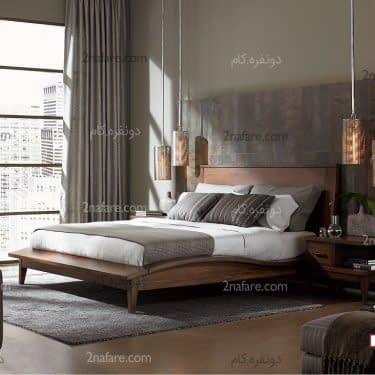 ایده آل ترین موقعیت قرار گرفتن تخت در گوشه اتاق خواب و با تسلط بر درب ورودیست