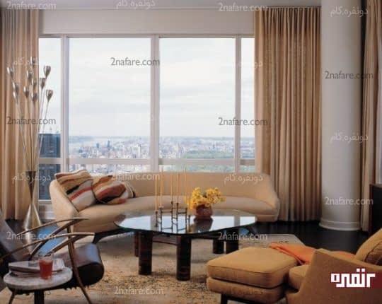 با توجه به فرم فضا و دیوارها مبل مناسب را انتخاب کنید