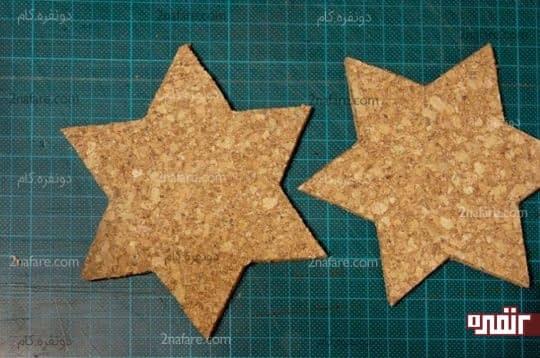 برش ورق چوب پنبه برای بیس زیر لیوانی ستاره ای