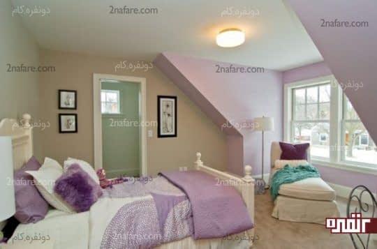بنفش یاسی رنگی آرامش بخش و دلنشین برای فضای اتاق خواب