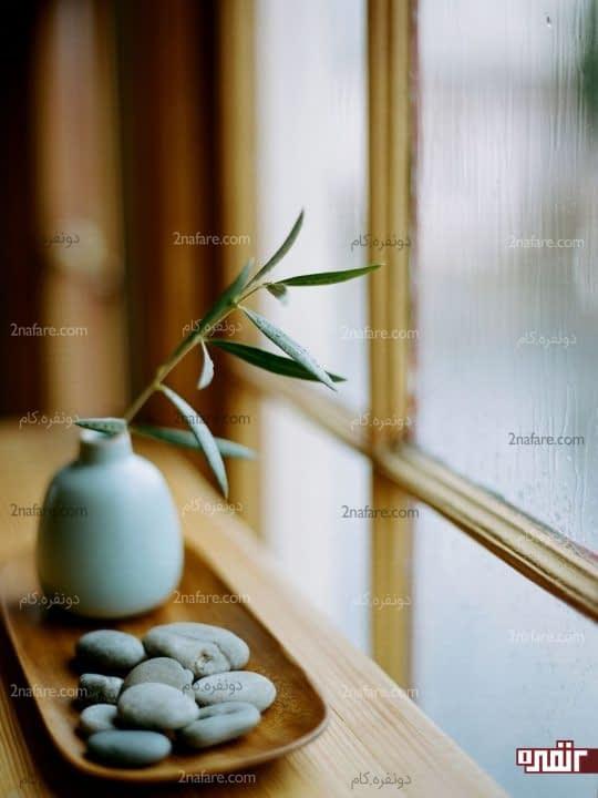 تامین روشنایی اتاق نشیمن از طریق پنجره ها