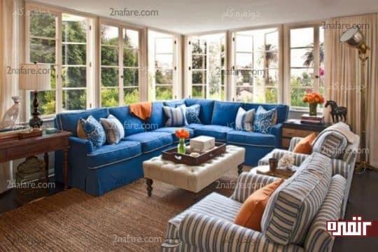 ترکیب رنگ ها در دکوراسیون داخلی اتاق نشیمن در خرید مبل بسیار تاثیرگذارند
