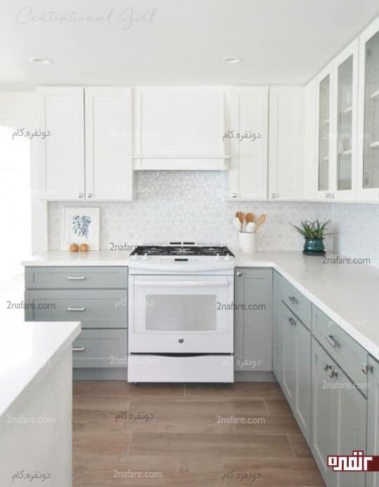 ترکیب زیبای دو رنگ سفید و خاکستری