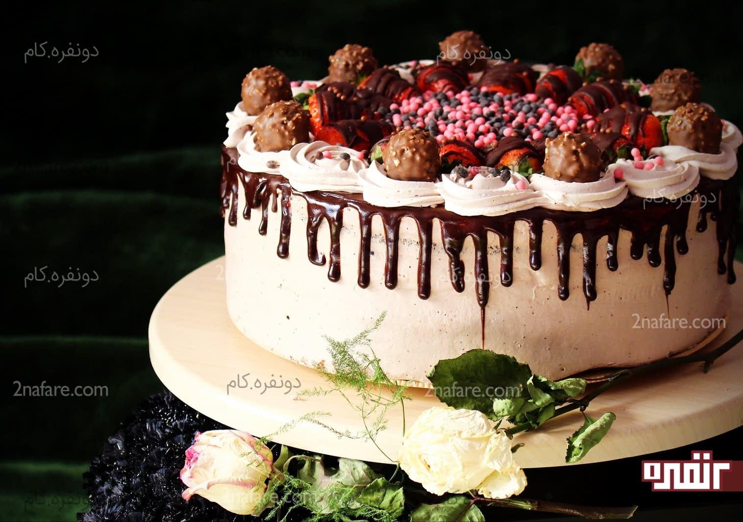 کیک با نام مهسا آموزش تزیین کیک با خامه مرحله به مرحله • دونفره