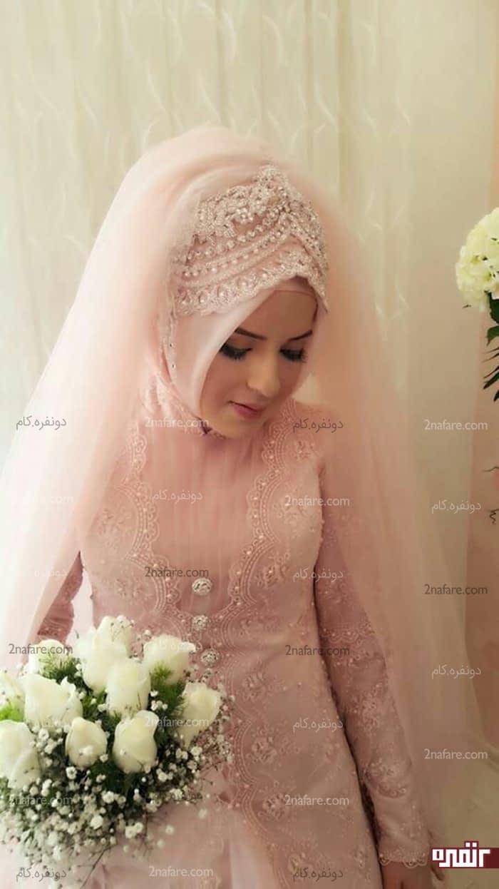تور سر برای لباس عروس بچه مدل بستن روسری برای لباس نامزدی • دونفره