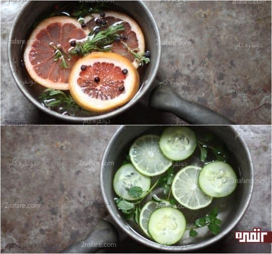 جوشاندن میوه ها برای تمیزی هوای آَشپزخانه