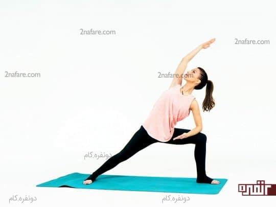 حرکات کششی یوگا و رفع گرفتگی عضلات