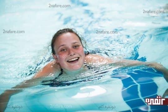 حس آرامش و راحتی با شنا