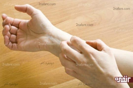 خارش و قرمزی پوست در اثر حساسیت به ژلوفن