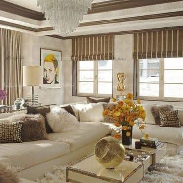 خانه ای شیک و زیبا با ترکیب سفید و قهوه ای