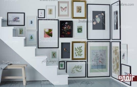 خانه شیک و مدرن با آلبوم دیواری و هنری جذاب