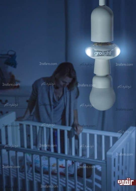 رابطه نور اتاق و آرامش نوزاد
