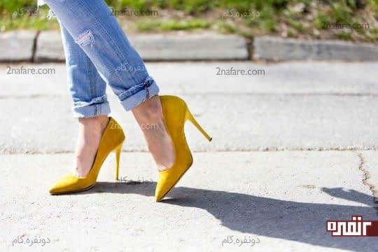 راه رفتن با کفش های پاشنه بلند رو تمرین کنید