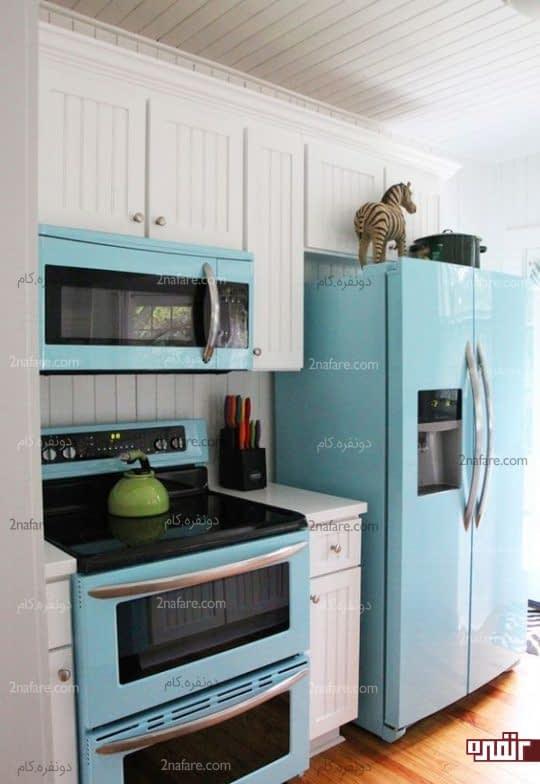 رنگ شاد و ملایم برای لوازم آشپزخانه