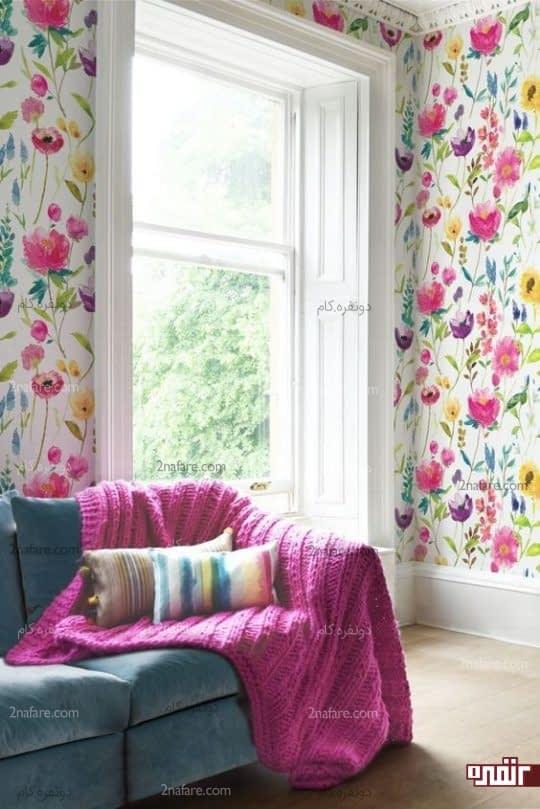رنگ های شاد و زیبا در اکسسوری ها و کاغذ دیواری
