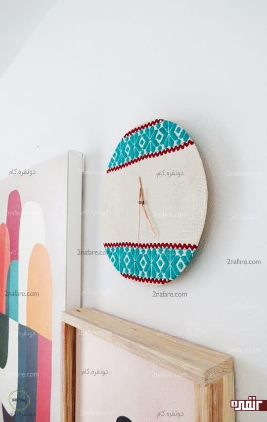 ساعت دیواری پارچه ای سنتی