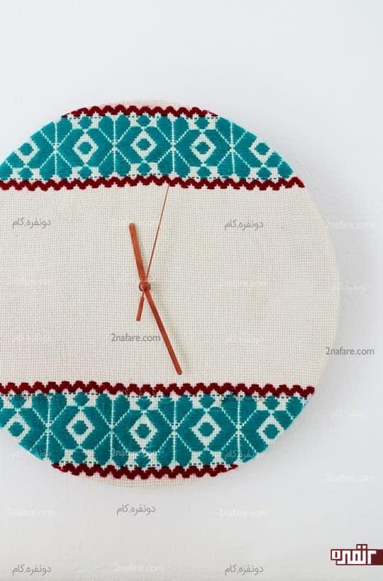 ساعت دیواری پارچه ای