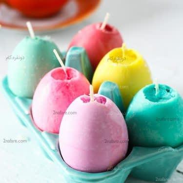 شمع تخم مرغی رنگی و جذاب