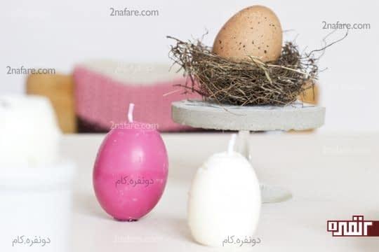 شمع تخم مرغی ساده و رنگی