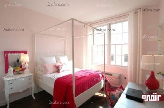 صورتی روشن و اتاقی پر از روشنایی و راحتی
