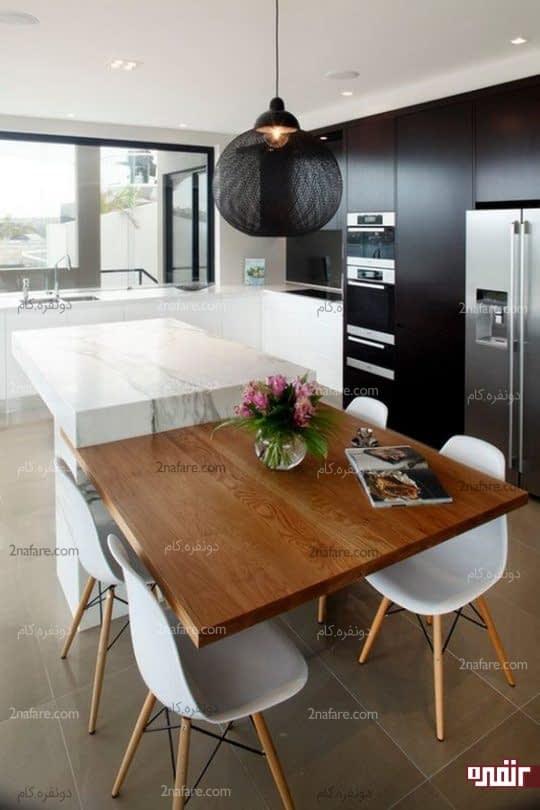 طراحی آشپزخانه با بهترین رنگها