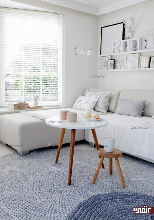 طرحی زیبا و منحصر بفرد برای فرش اتاق نشیمن