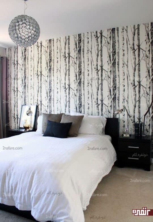 طرح های ساده و زیبا برای کاغذ دیواری اتاق خواب