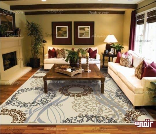 فرش مناسب و زیبا برای اتاق نشیمن