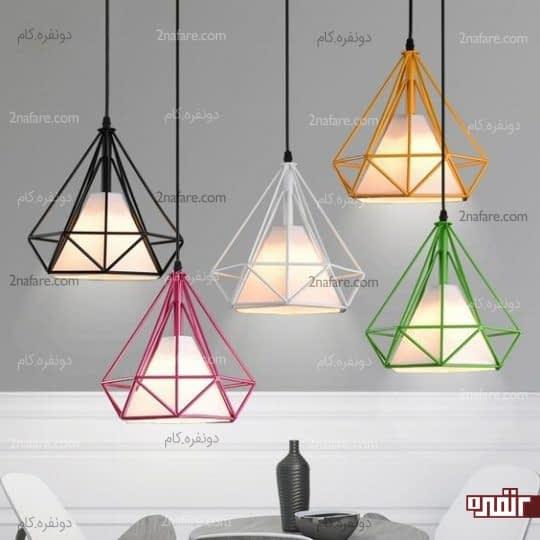 لامپ های آویز و رنگی