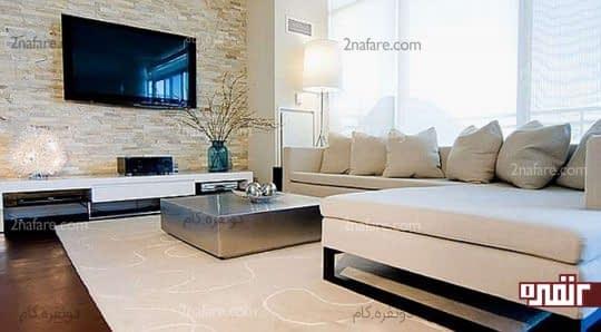 مبل های ال شکل انتخابی زیبا و راحت برای اتاق نشیمن