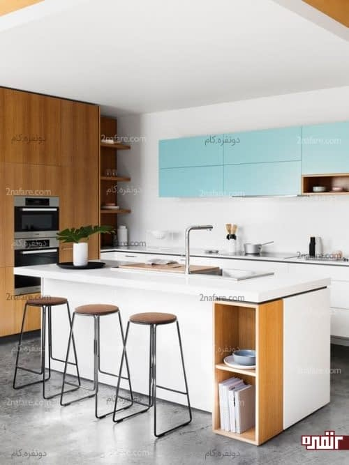 مدل های زیبای طراحی آشپزخونه دو رنگ و مدرن